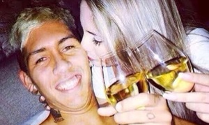 (Photo) Roberto Firmino's wife posts matchday selfie and wishes Liverpool star good luck as he starts v Man Utd