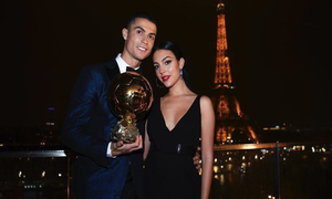Cristiano Ronaldo and girlfriend Georgina Rodriguez receive brilliant Ballon d'Or present as she looks stunning at ceremony
