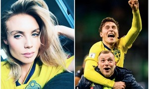 Victor Lindelof girlfriend Maja Nilsson celebrates Sweden's World Cup win after wearing Man United player's shirt that smelled