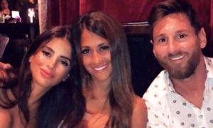 Chelsea WAG Daniella Semaan has night out with Lionel Messi